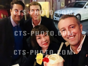 Ahmadyar Hamid exclusive influencer dinner with Lin Liu, H.H. Dr. Prince Mario-Max Schaumburg-Lippe and original American Indian Hollywood Star Casey VanRyan