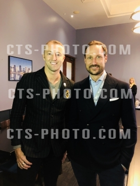 Crown Prince Haakon of Norway and Prince Mario-Max Schaumburg-Lippe of Germany