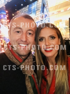 Heidi Klum receives congratulations by Prince Mario-Max Schaumburg-Lippe at America's Got Talent